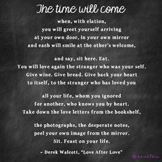 The time will come...