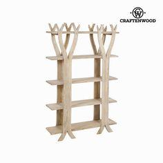 Étagère Bois mindi x 95 x 26 cm) - Collection Pure Life by Craftenwood Wood, Tree Shelf, Shelves, Decorative Pieces, Bookcase, Metal Shelves, Tree Bookcase, Double Glass Doors, Cube Bookcase