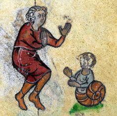 Snailboy, 'The Maastricht Hours', Liège 14th century (British Library, Stowe 17, fol. 272r)