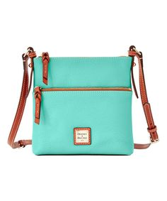 Look at this Mint Letter Carrier Leather Crossbody Bag on #zulily today!