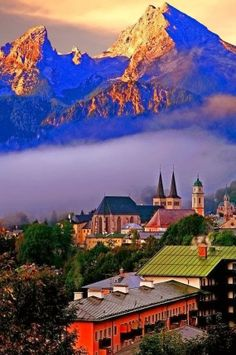 Berchtesgaden Bayern, Germany. Along the Mozart and Bodensee-Konigsee Bicycle Routes. Great place to visit with salt mine tours and nearby National Park.