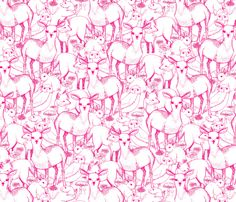 Woodland (Pink) fabric by lydia_meiying on Spoonflower - custom fabric