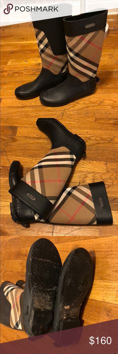 Burberry Rain/snow boots These classic check rain boots also double as snow boots! Burberry Shoes Winter & Rain Boots