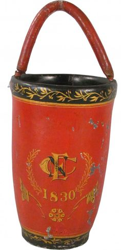 Leather Painted Fire Bucket