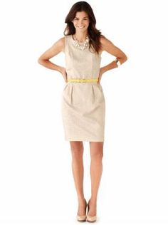 Dresses are acceptable for business casual - make sure they are long enough and not revealing!