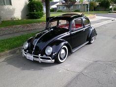 1957 Black Oval Ragtop VW Beetle For Sale @ Oldbug.com