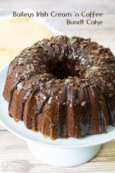 Bailey's Irish Cream 'n Coffee Bundt Cake