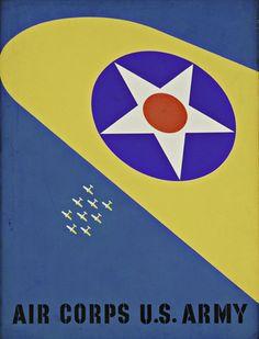 "Joseph Binder (American, 1898–1972) Air Corps U.S. Army  Date:     1941 Medium:     Tempera Dimensions:     40 x 30"" (101.7 x 76.2 cm) Credit Line:     Gift of the designer MoMA Number:     754.1983"