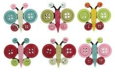 Buttons just glue and sew them together to make some cool shapes.