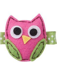 Felt Owl Clip