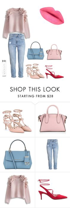 """work 1"" by mirka-i on Polyvore featuring Valentino, DKNY, MICHAEL Michael Kors, H&M, Chicwish, MANGO, women's clothing, women, female and woman"