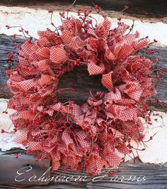 RAG  BERRY WREATH * RED...