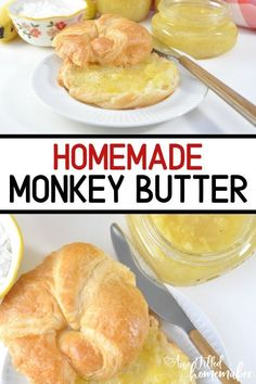 If you love canning and haven't tried Monkey Butter yet, you will love this easy recipe! This recipe is perfect for a beginner canner & it is kid tested and approved also! Add this to your English Muffin, biscuit, toast or even pancakes for a yummy condiment! #Canning #Preserving #MonkeyButter #Breakfast #Condiment #EnglishMuffin #Toast #Kids Make Ahead Breakfast, Breakfast Recipes, Breakfast Time, Freezer Meals, Easy Meals, Banana Uses, Homemade White Bread, Muffins, Butter