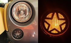 Jeep Wrangler Accessories - Front Turn Signal Light Cover Guard Aluminum Star Front Lamp Cover Blinker Insert Guard Cover Trim 2 Pcs for Jeep Wrangler 2007-2017 JK 2 Door & JKU Unlimited 4 Door Jeep Wrangler Lights, 2007 Jeep Wrangler, Jeep Wranger, Jeep Wrangler Accessories, Lamp Cover, Light Covers, Volkswagen Logo, Tail Light, Stars