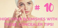 Hide Your Blemishes With These 10 Concealer Tips! Too Faced Concealer, Best Concealer, Cream Concealer, Beautycounter Makeup, It Cosmetics Concealer, Blemish Remedies, Blemish Remover, Waterproof Concealer, Make Up