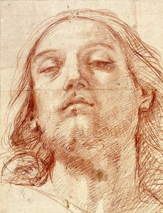 Guido Reni : The Head of Christ Reni November 1575 – 18 August was an Italian painter of high-Baroque style. Life Drawing, Drawing Sketches, Painting & Drawing, Drawings, Trois Crayons, Baroque Art, Italian Baroque, Jesus Face, The Royal Collection