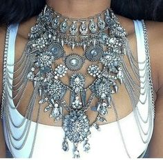 jewels boho bohemian swag silver statement necklace necklace choker necklace jewelry
