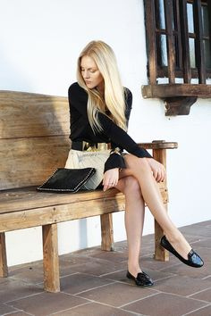 shea marie cheyenne meets chanel blogger blog fashion style california leather skirt balenciaga schutz miss14