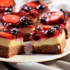 Ovocné kostky - Fitness Recepty Healthy Deserts, Healthy Cake, Healthy Sweets, Healthy Recipes, Food Inspiration, Sweet Recipes, Tapas, Sweet Treats, Dessert Recipes