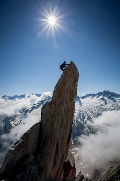 xtremerhd:  Almost there… #climbing  The exhilaration of reaching the top, but the scary on the way down