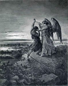 Jacob Wrestling with the Angel Artist: Gustave Dore Completion Date: 1866