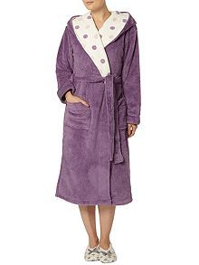 Cosy Robe With Spot Print