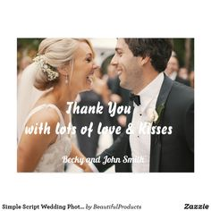 Elegant Hand Lettered Wedding Thank You Postcard - wedding thank you marriage thankyou idea diy customize personalize Wedding Thank You Postcards, Wedding Thank You Gifts, Wedding Cards, Wedding Invitations, Wedding Postcard, Wedding Punch, Bride Gifts, Invites, Photo Thank You Cards