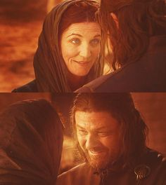 Catelyn and Eddard Stark....this was the last time they saw each other....  :(