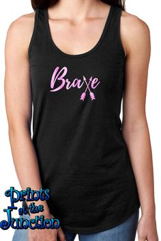 Rhinestone Breast Cancer Unisex 2-Tone Tank Top Love Pink Ribbon