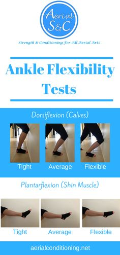 Aerial: Ultimate Foot, Ankle & Calf Mobility Guide Use these ankle flexibility tests to determine what mobility exercises are right for YOU depending on your tight, inflexible muscles! Ankle Mobility Exercises, Ankle Strengthening Exercises, Ankle Stretches, Flexibility Exercises, Ankle Flexibility, Flexibility Training, Basic Yoga For Beginners, Effective Ab Workouts, Aerial Silks