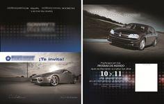 Invitación prueba para agencia automotriz. Ps CS6 en Mac
