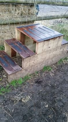 Hand made, rot resistant and safe. Horse Arena, Horse Stables, Horse Farms, Horse Mounting Block, Piscina Intex, Horse Gear, Horse Tips, Horse Shelter, Horse Barn Plans