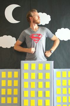 Make your own DIY Super Hero Photo Booth with our easy tutorial!