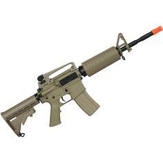 Rifle Airsoft Elétrico Cyma M4A1 CM503 TAN Bivolt - Verde Militar Ref.:BJH-0021-192-01  Rifle Airsoft Elétrico Cyma M4A1 CM503 TAN Bivolt. O Rifle modelo CM503 é uma Airsoft produzida pela Cyma e importada pela Taitus. Possui o corpo inteiramente confeccionado em Rifle, Guns, Weapons Guns, Model, Military, Pistols, Green, Accessories, Revolvers