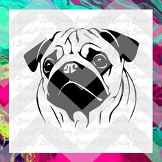 Pug SVGs - pug svg files - pug wall art - pug deca…
