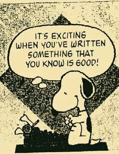 The Author..Snoopy!