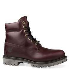 Shoe Connection - Timberland - 10061 6 Inch Prem burgundy leather lace-up work boots. $299.99 http://www.shoeconnection.co.nz/products/TIPBRR6N1BM
