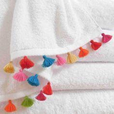 Celia Lindsell: Coloured Tassel Bath Towel Collection