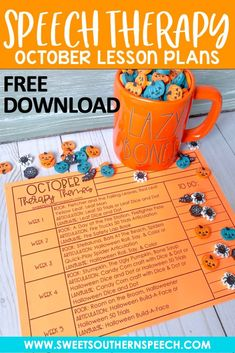 October Speech Therapy Lesson Plans - Sweet Southern Speech