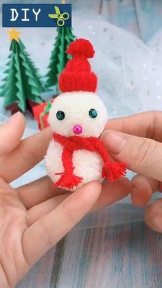 Christmas Tree Decorations For Kids, Christmas Tree Village Display, Christmas Pom Pom Crafts, Sewn Christmas Ornaments, Diy Felt Christmas Tree, Christmas Snowman, Diy Snowman, Period Movies, Period Dramas
