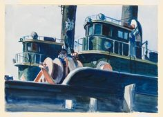Edward Hopper, Two Trawlers on ArtStack #edward-hopper #art