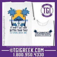 TGI Greek - Phi Gamma Delta - Spring Break - Tanks - Comfort Colors - Greek T-shirts - Party Shirts #tgigreek #phigammadelta #springbreak #partyshirts
