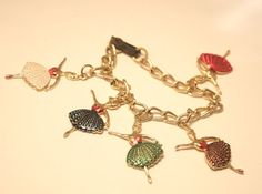 Vintage ballerina charm bracelet. Made in by chicvintageboutique, $10.00