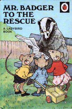 MR BADGER TO THE RESCUE a Vintage Ladybird Book Animal Rhymes Series 401 £6.95