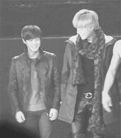 They're holding hands. So cute. Exo Ot12, Suho Exo, Exo K, Exo Couple, Kris Wu, Exo Members, Super Junior, Korean Beauty, Girls Generation