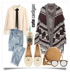 """""""My Favorite Cardigan"""" by alaria ❤ liked on Polyvore featuring H&M, Wrap, Zara, Big Buddha, Jack Rogers, Le Specs, cardigan and contestentry"""