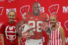 Take a photo with Heisman Trophy Candidate Montee Ball. University Of Wisconsin Football, How To Take Photos, Your Photos, Heisman Trophy, Badger, Ronald Mcdonald, Take That, Photo And Video, Sports
