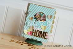 Becki Adams: Create a Mini Album with the HSN We R Memory Keepers Fuse Tool Kit #WRMKFuse