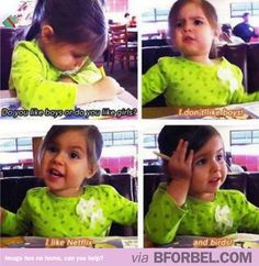 """""""Do you like boys or girls?"""" This kid is the baby twin of Jennifer Lawrence. #cute #adorable #funnyKids"""