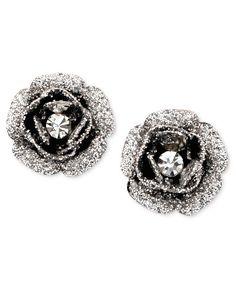 Betsey Johnson Earrings, Rose Bud Stud - Fashion Jewelry - Jewelry & Watches - Macy's